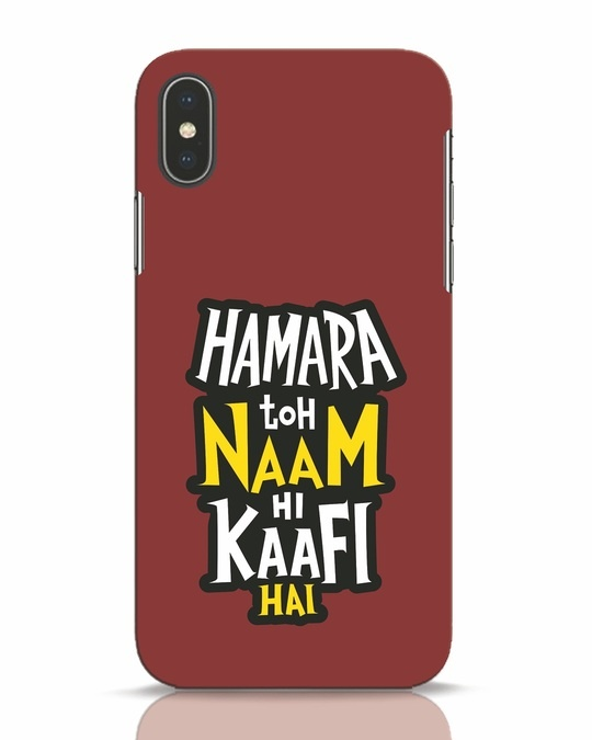 Shop Naam Hi Kaafi Hai iPhone X Mobile Cover-Front