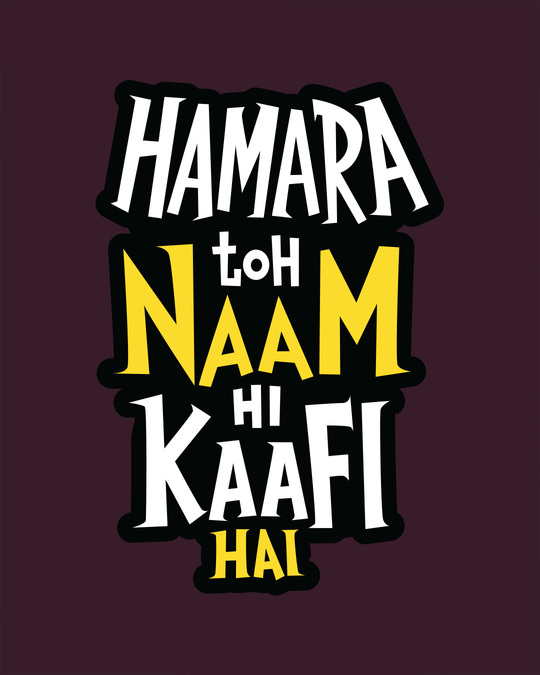 Shop Naam Hi Kaafi Hai Sweatshirt-Full
