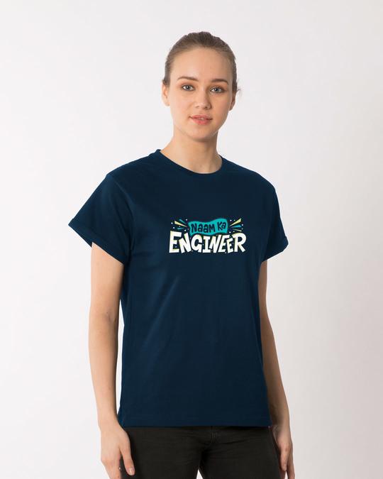 Shop Naam Ka Engineer Boyfriend T-Shirt-Back