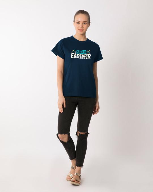 Shop Naam Ka Engineer Boyfriend T-Shirt