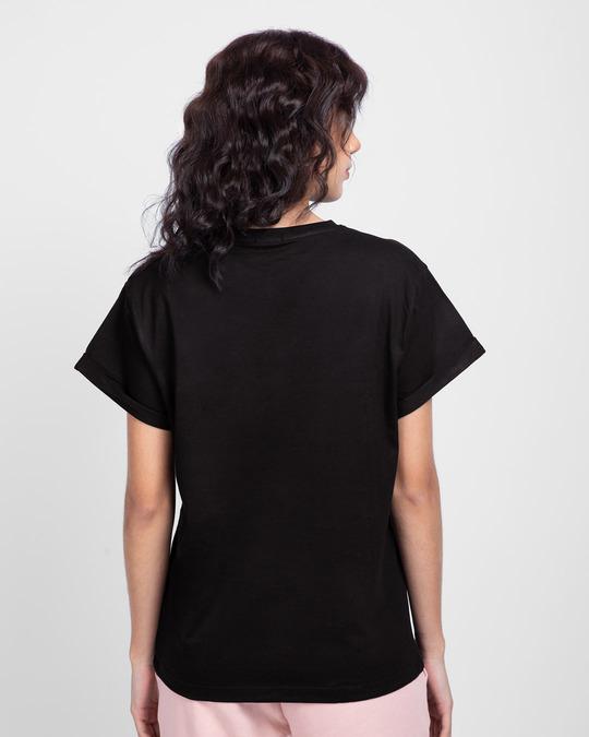 Shop Naasto And Chill Boyfriend T-Shirt Black-Back