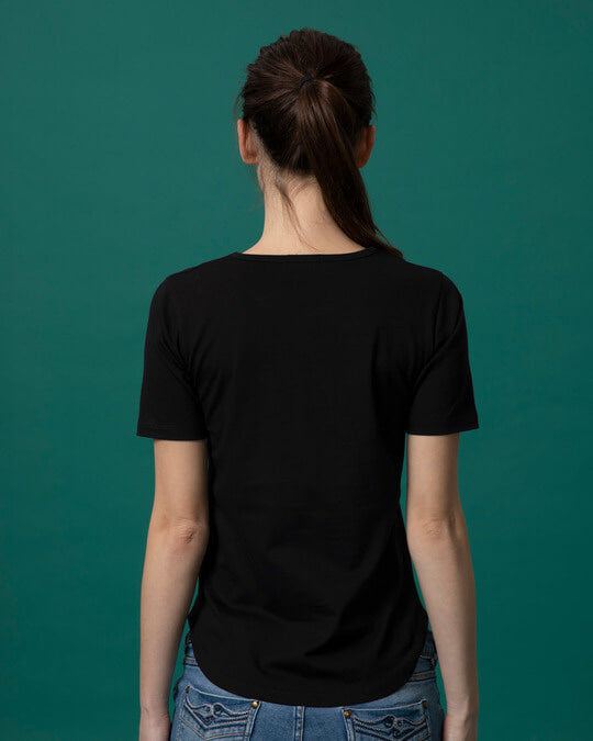 Shop Nadkhula Basic Round Hem T-Shirt-Full
