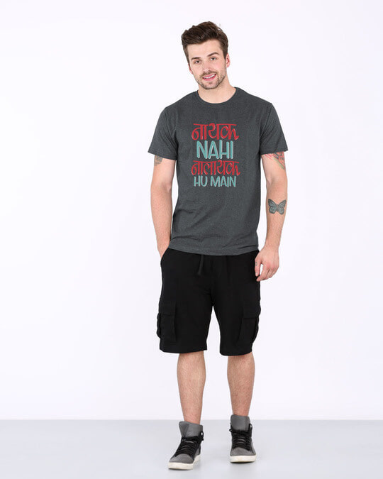 Shop Nalayak Hu Main Half Sleeve T-Shirt-Full