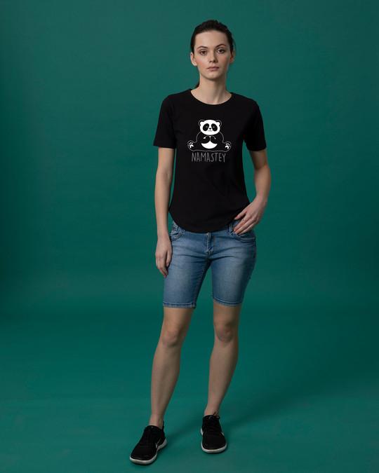 Shop Namastey Basic Round Hem T-Shirt