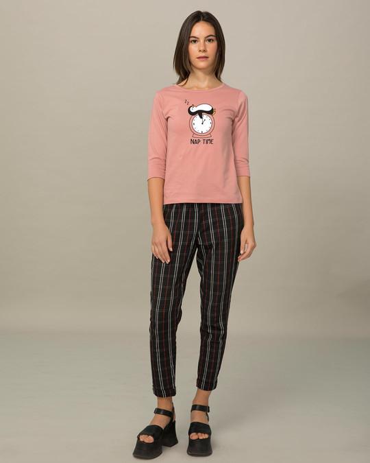 Shop Nap Penguin Round Neck 3/4th Sleeve T-Shirt-Design