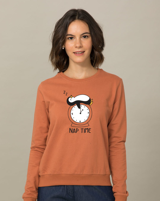 Shop Nap Penguin Sweatshirt-Front