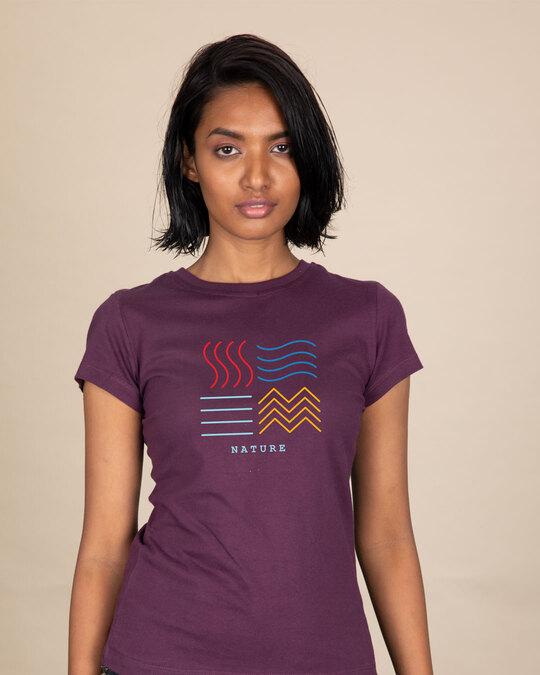 Shop Nature Elements Half Sleeve T-Shirt-Front
