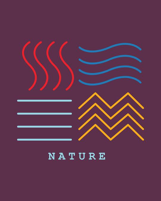 Shop Nature Elements Half Sleeve T-Shirt-Full