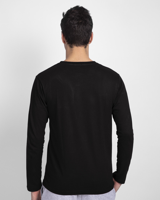 Shop Nature Finds Its Way Full Sleeve T-Shirt Black-Back