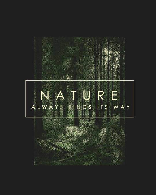 Shop Nature Finds Its Way Full Sleeve T-Shirt Black-Full