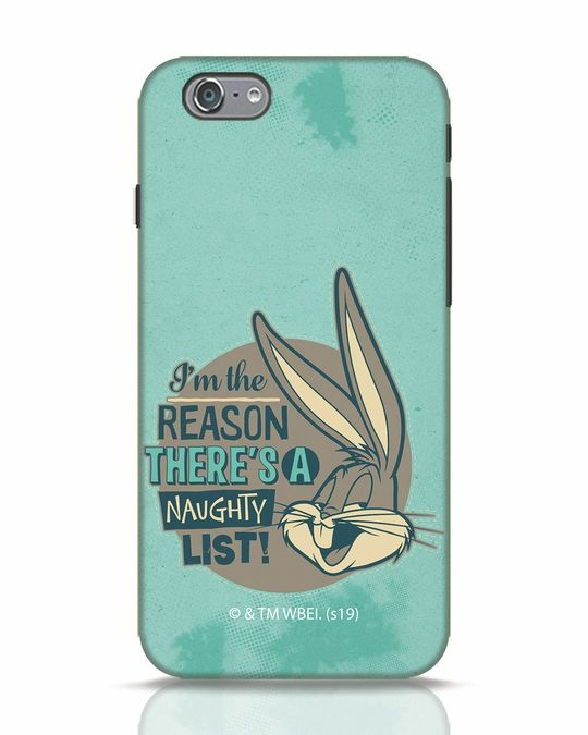 Shop Naughty List iPhone 6s Mobile Cover (LTL)-Front