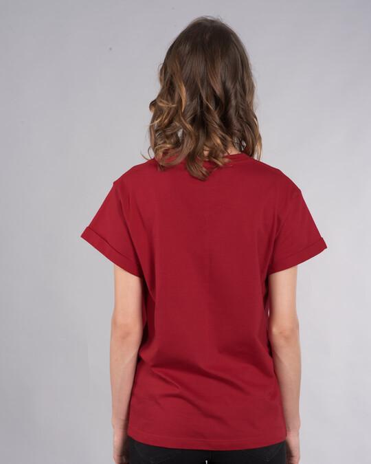 Shop Naughty Not Cute Boyfriend T-Shirt (TJL)-Back