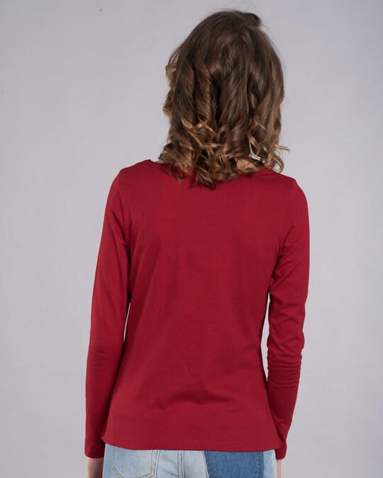 Shop Naughty Not Cute Scoop Neck Full Sleeve T-Shirt (TJL)-Back