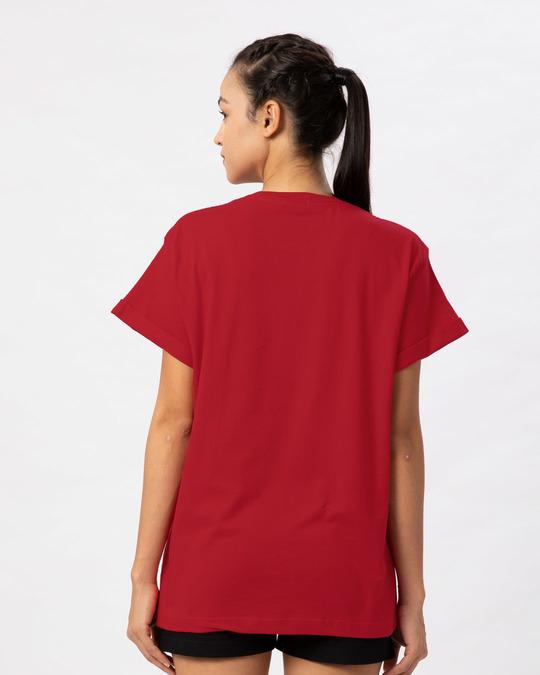 Shop Naughty Panda Boyfriend T-Shirt-Back