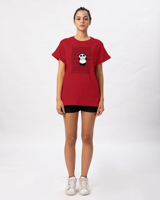 Shop Naughty Panda Boyfriend T-Shirt-Full