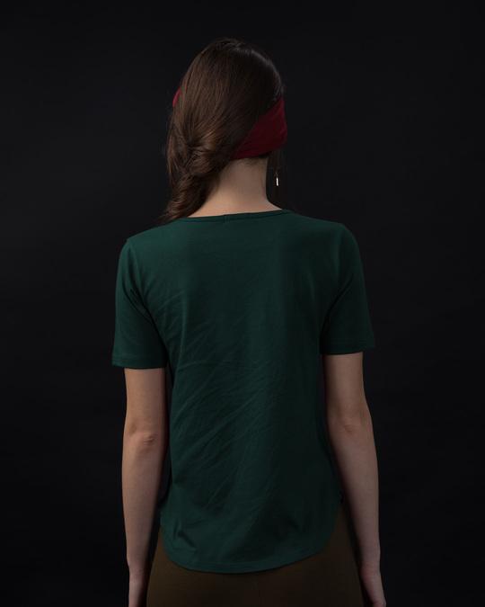 Shop Naughty Penguin Basic Round Hem T-Shirt-Back
