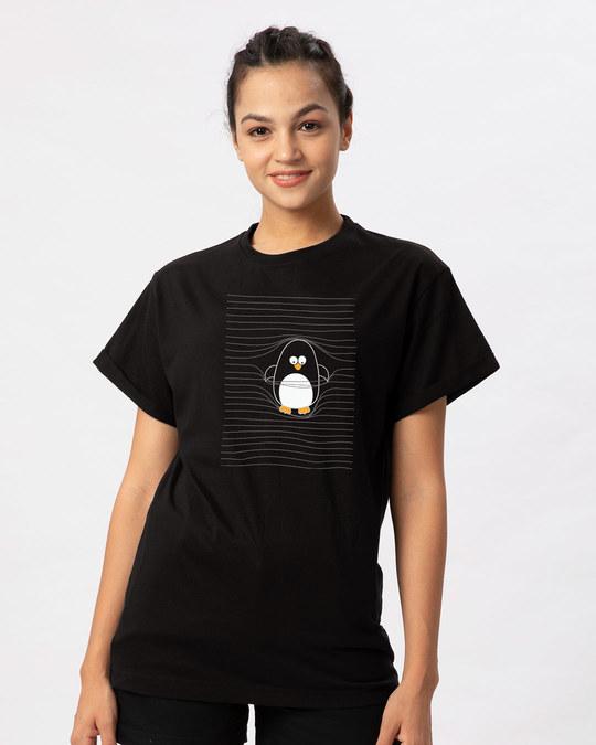 Shop Naughty Penguin Boyfriend T-Shirt-Front