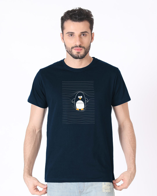 Shop Naughty Penguin Half Sleeve T-Shirt-Back