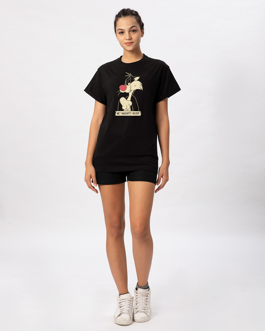 Shop Naughty Sylvester Boyfriend T-Shirt (LTL)-Design
