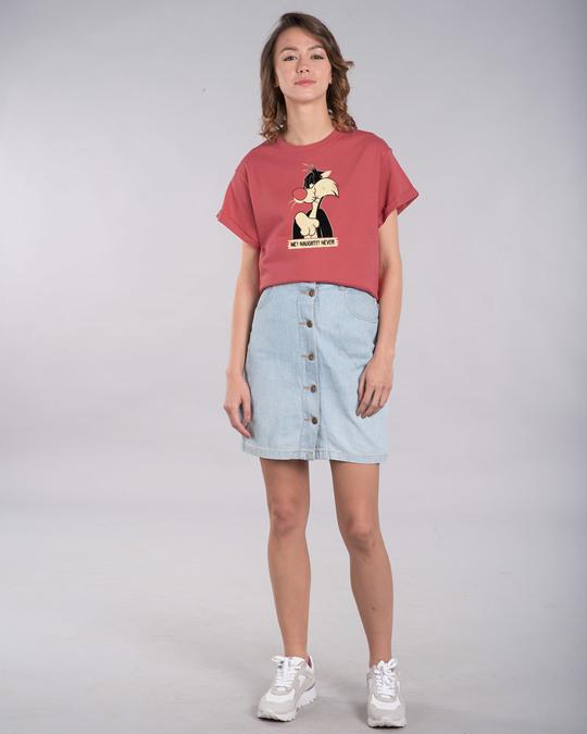 Shop Naughty Sylvester Boyfriend T-Shirt (LTL)-Full