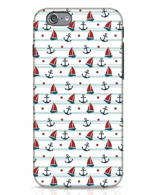 Shop Nautical Pattern iPhone 6s Mobile Cover-Front