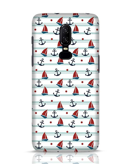 Shop Nautical Pattern OnePlus 6 Mobile Cover-Front