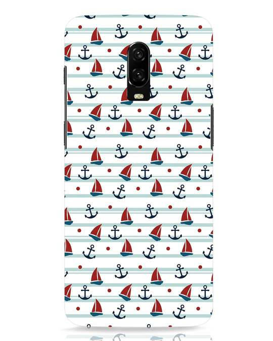 Shop Nautical Pattern OnePlus 6T Mobile Cover-Front
