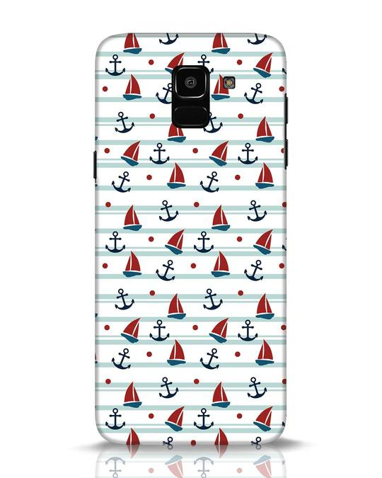 Shop Nautical Pattern Samsung Galaxy J6 Mobile Cover-Front