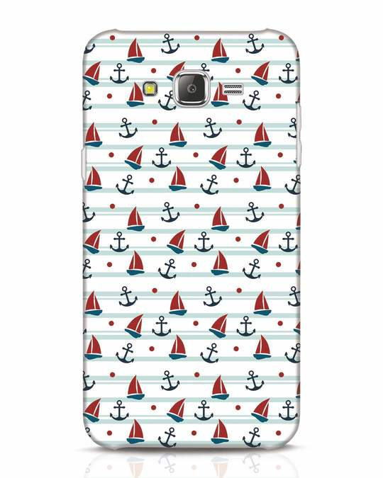 Shop Nautical Pattern Samsung Galaxy J7 Mobile Cover-Front