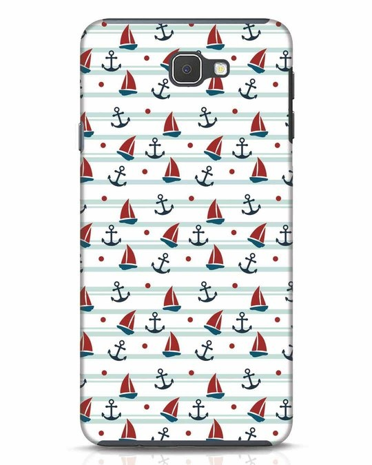 Shop Nautical Pattern Samsung Galaxy J7 Prime Mobile Cover-Front