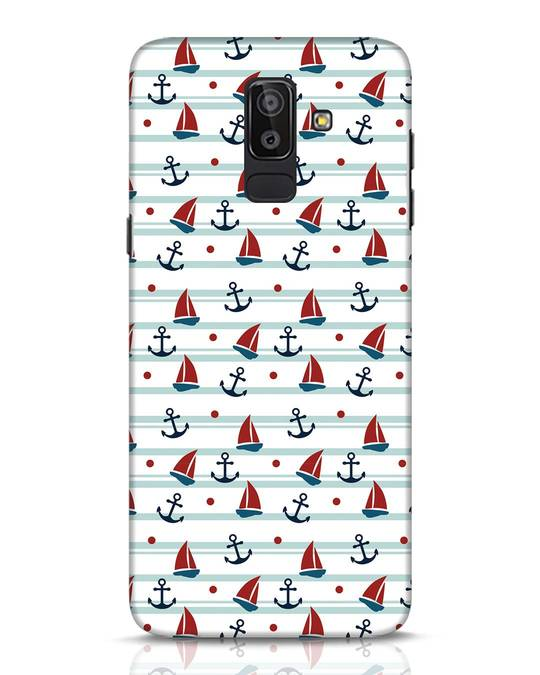 Shop Nautical Pattern Samsung Galaxy J8 Mobile Cover-Front