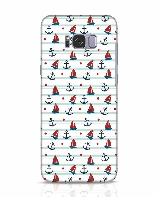 Shop Nautical Pattern Samsung Galaxy S8 Mobile Cover-Front