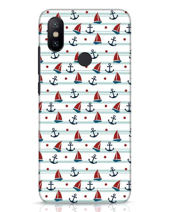 Shop Nautical Pattern Xiaomi Mi A2 Mobile Cover-Front