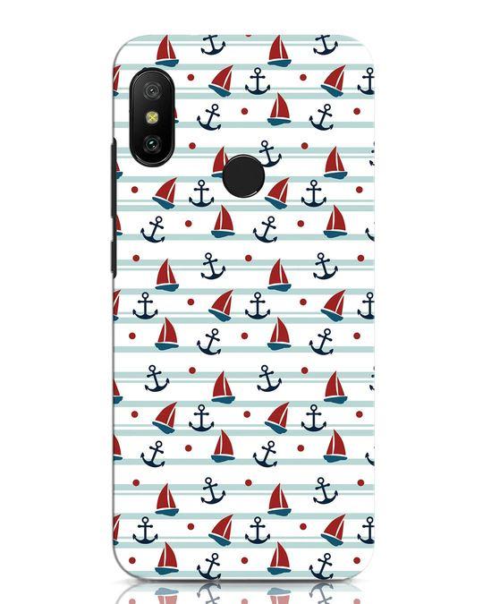 Shop Nautical Pattern Xiaomi Redmi Note 6 Pro Mobile Cover-Front