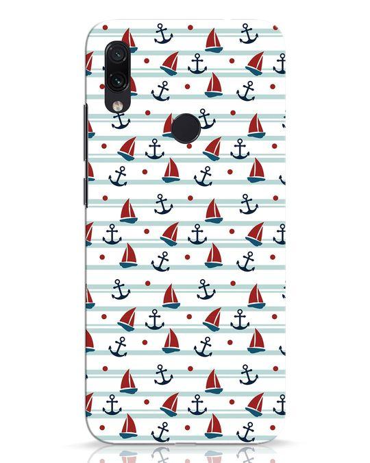 Shop Nautical Pattern Xiaomi Redmi Note 7 Pro Mobile Cover-Front