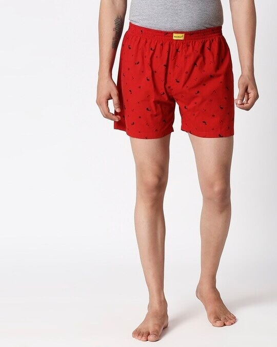 Shop Nautical Print Red Boxers-Back