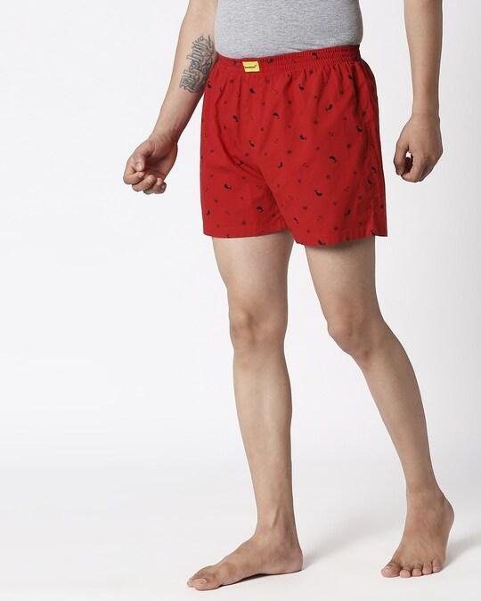 Shop Nautical Print Red Boxers-Design
