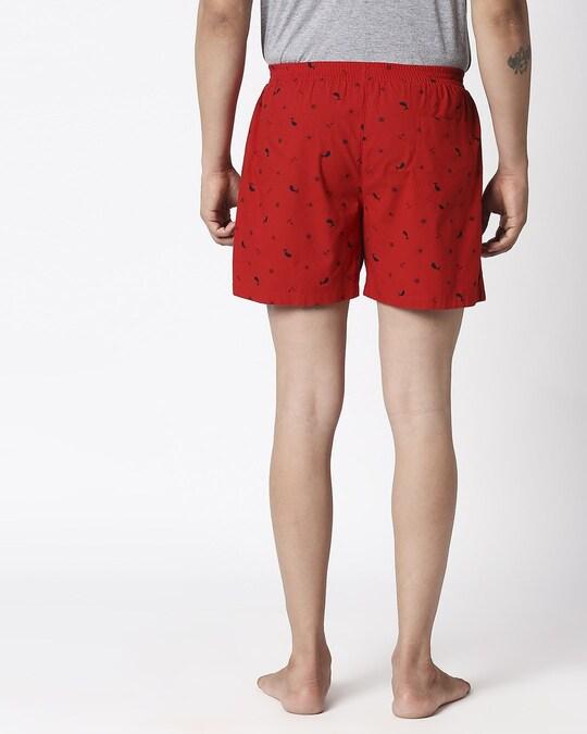 Shop Nautical Print Red Boxers-Full