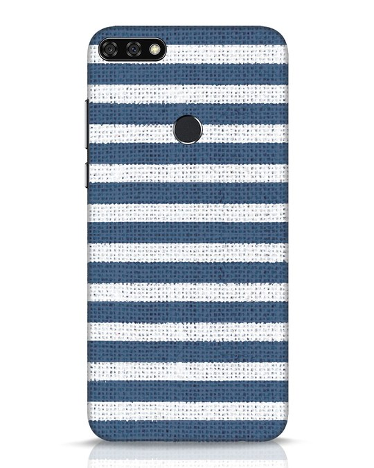 Shop Nautical Stripes Huawei Honor 7C Mobile Cover-Front