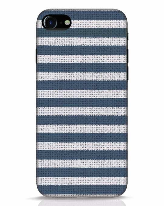 Shop Nautical Stripes iPhone 7 Mobile Cover-Front