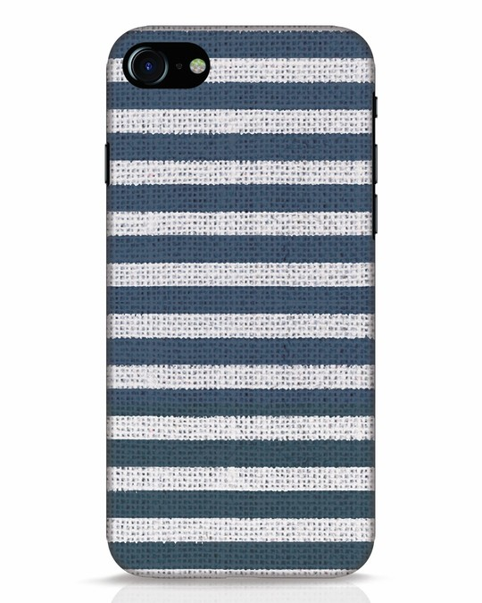 Shop Nautical Stripes iPhone 8 Mobile Cover-Front