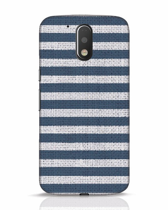 Shop Nautical Stripes Moto G4 Plus Mobile Cover-Front