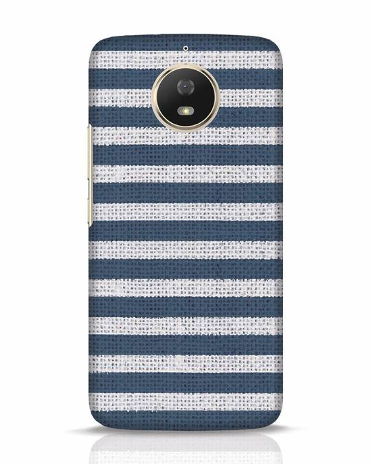 Shop Nautical Stripes Moto G5s Mobile Cover-Front