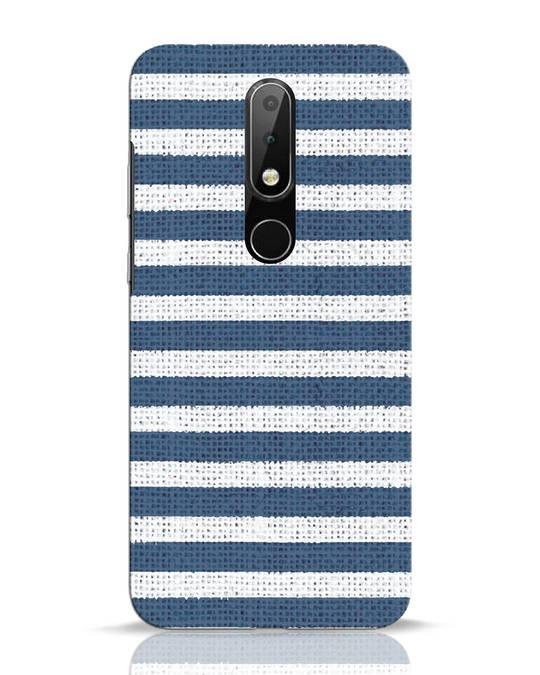 Shop Nautical Stripes Nokia 6.1 Plus Mobile Cover-Front