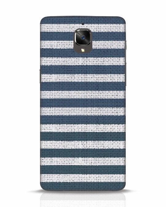 Shop Nautical Stripes OnePlus 3 Mobile Cover-Front