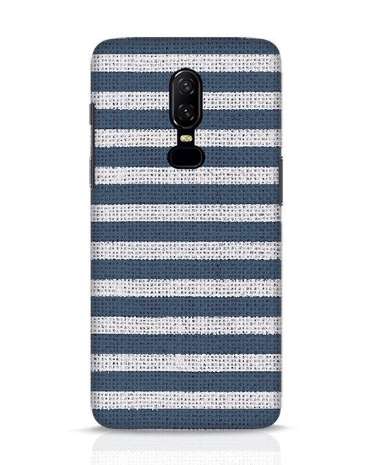 Shop Nautical Stripes OnePlus 6 Mobile Cover-Front