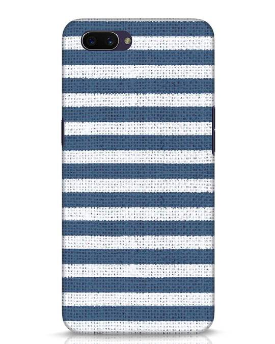 Shop Nautical Stripes Oppo A3S Mobile Cover-Front