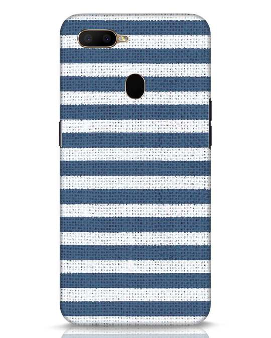 Shop Nautical Stripes Oppo A5s Mobile Cover-Front
