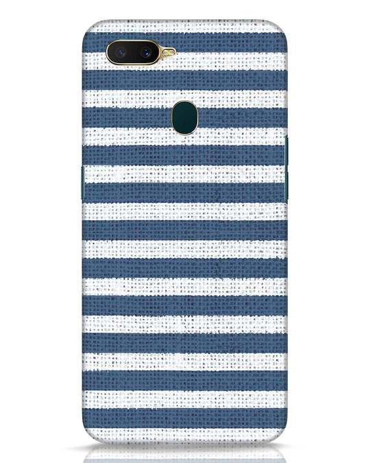 Shop Nautical Stripes Oppo A7 Mobile Cover-Front