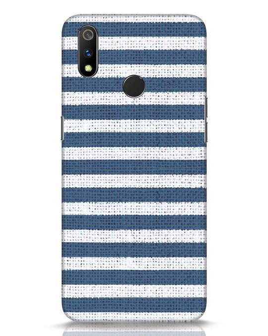 Shop Nautical Stripes Realme 3 Pro Mobile Cover-Front